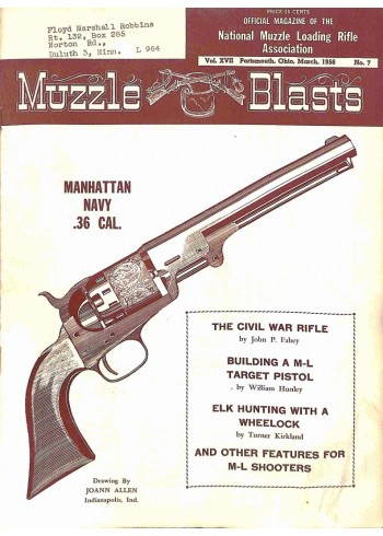 Cover Print of Muzzle Blasts, March 1956