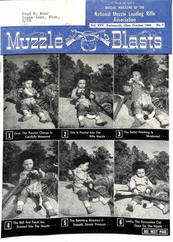 Cover Print of Muzzle Blasts, October 1955