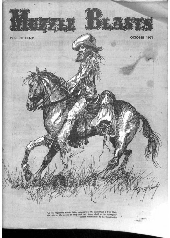Cover Print of Muzzle Blasts, October 1977