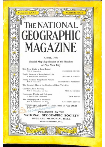 Cover Print of National Geographic, April 1939