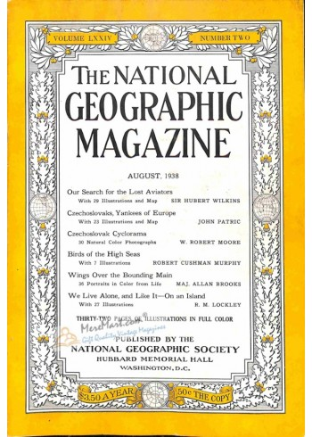 Cover Print of National Geographic, August 1938