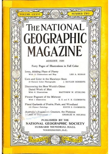 National Geographic, August 1939