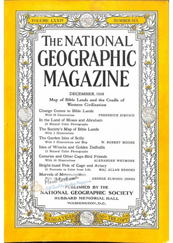 Cover Print of National Geographic, December 1938