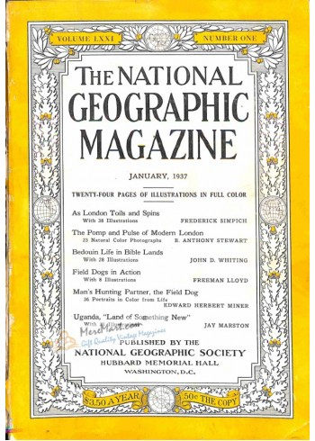 Cover Print of National Geographic, January 1937