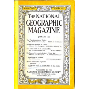 National Geographic, January 1939