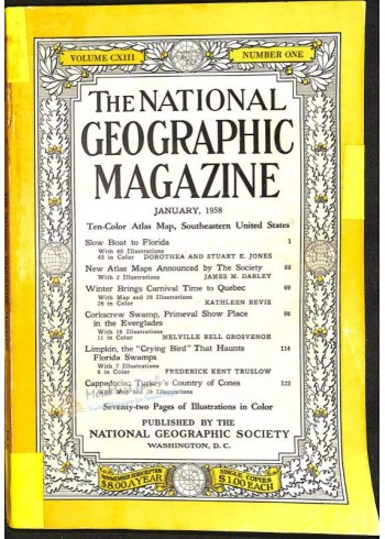 National Geographic, January 1958