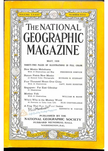 Cover Print of National Geographic, May 1938