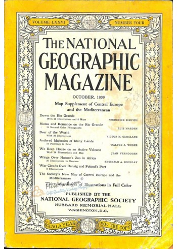 Cover Print of National Geographic, October 1939