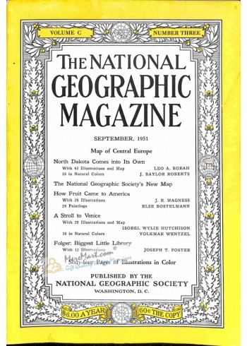 Cover Print of National Geographic, September 1951