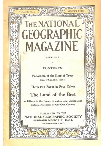 Cover Print of National Geographic Magazine, April 1916