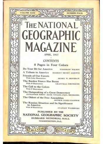 Cover Print of National Geographic Magazine, April 1917