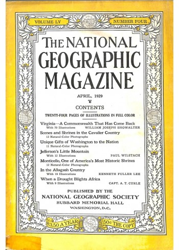Cover Print of National Geographic Magazine, April 1929