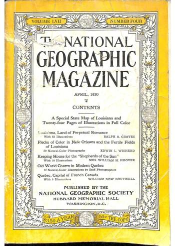 National Geographic Magazine, April 1930