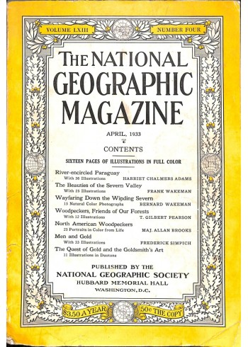 Cover Print of National Geographic Magazine, April 1933
