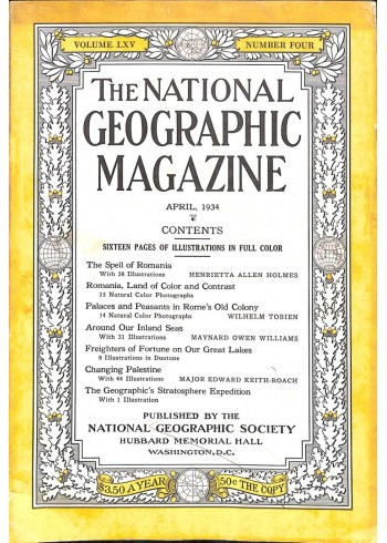 Cover Print of National Geographic Magazine, April 1934