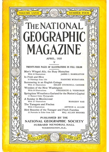 Cover Print of National Geographic Magazine, April 1935