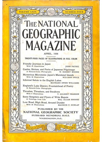 Cover Print of National Geographic Magazine, April 1936