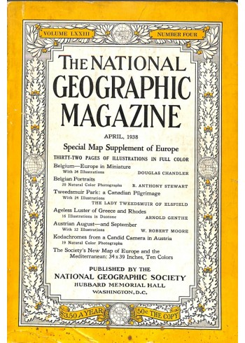 Cover Print of National Geographic Magazine, April 1938
