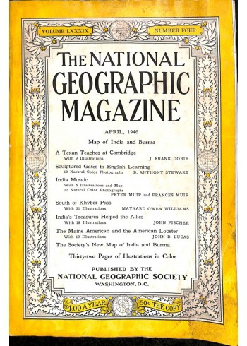 National Geographic Magazine, April 1946