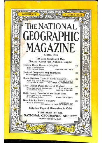 Cover Print of National Geographic Magazine, April 1956