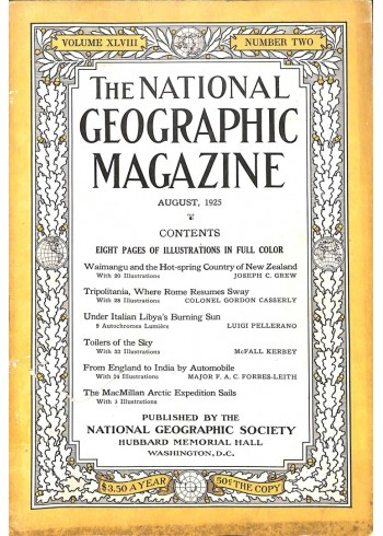 Cover Print of National Geographic Magazine, August 1925