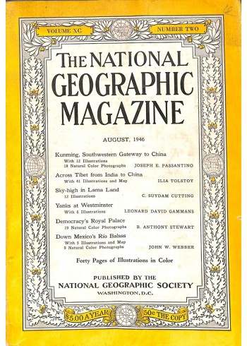 National Geographic Magazine, August 1946