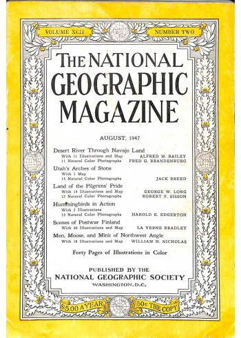 Cover Print of National Geographic Magazine, August 1947