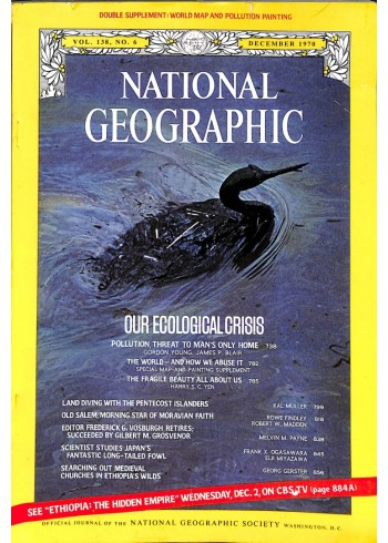 Cover Print of National Geographic Magazine, December 1970
