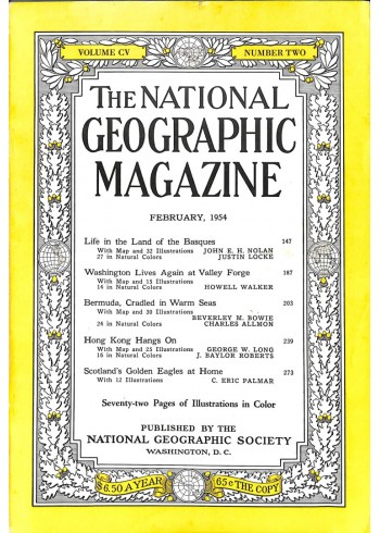 Cover Print of National Geographic Magazine, February 1954