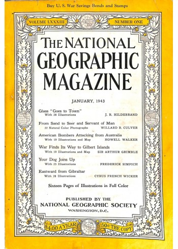 Cover Print of National Geographic Magazine, January 1943