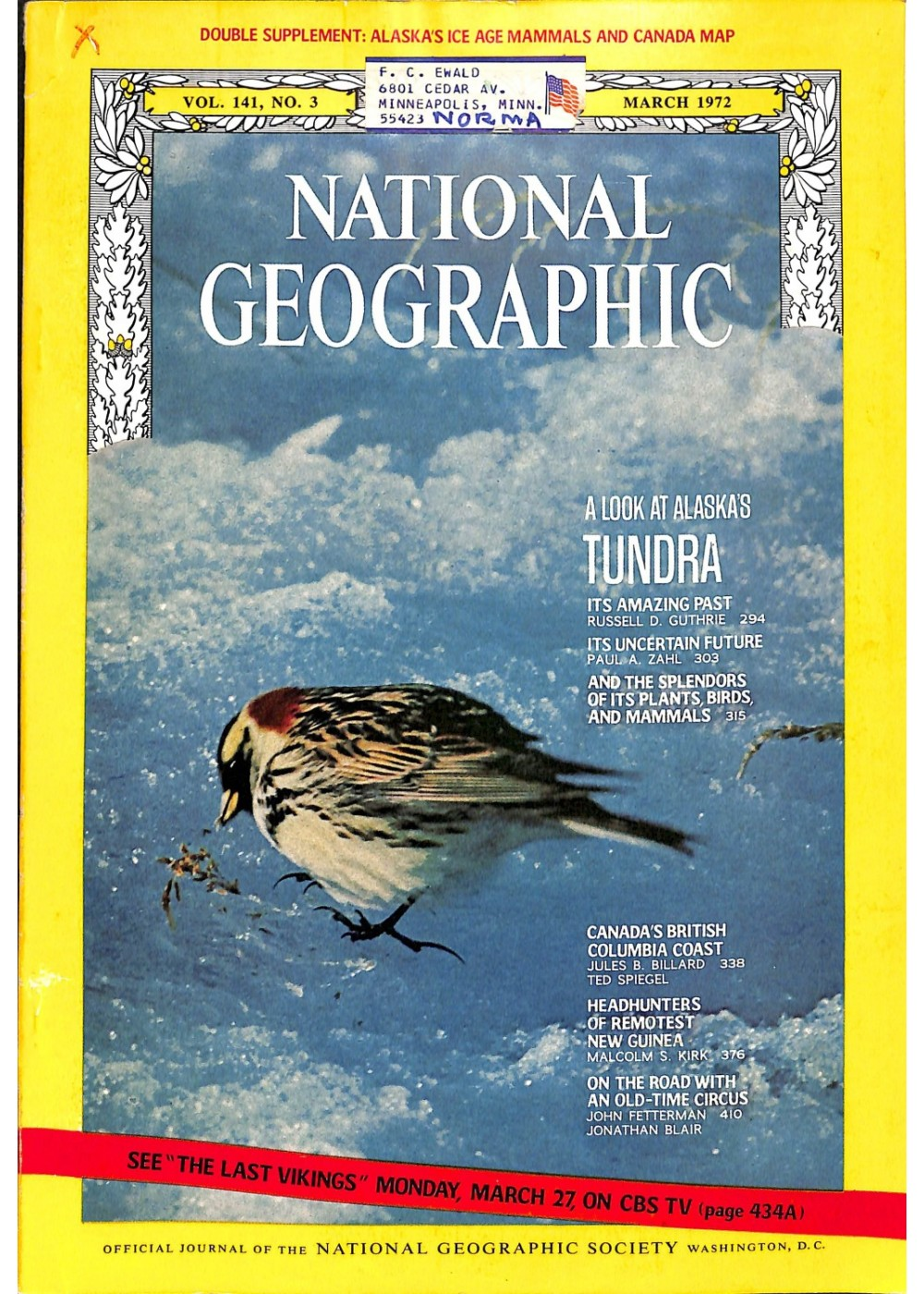 National Geographic, March 1972