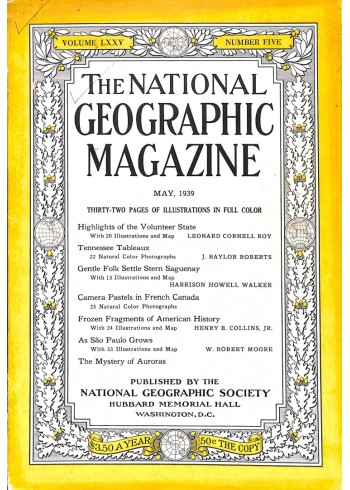 National Geographic Magazine, May 1939