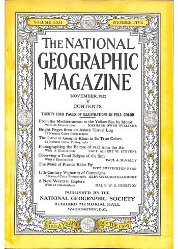 National Geographic Magazine, November 1932