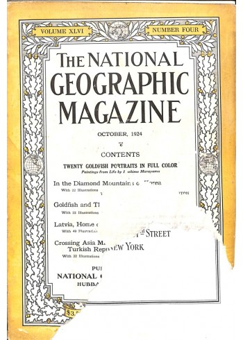 National Geographic Magazine, October 1924