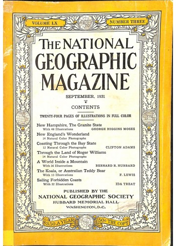 National Geographic, September 1931