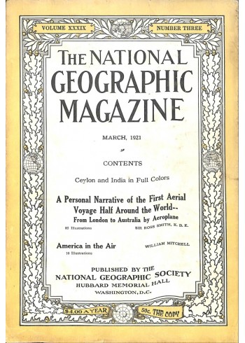 Cover Print of National Geographic, March 1921