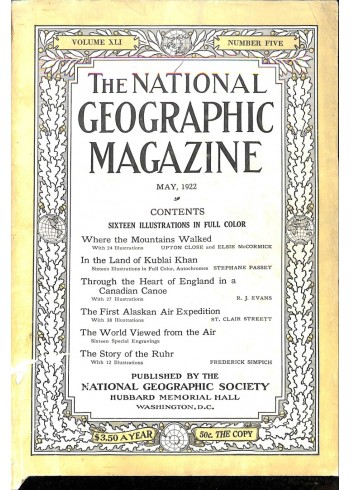 Cover Print of National Geographic, May 1922
