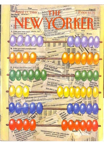 Cover Print of The New Yorker, April 17 1989