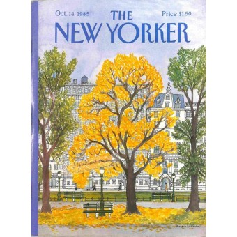 THE NEW YORKER OCTOBER 11 1970 HALLOWEEN MAGAZINE COVER VGC