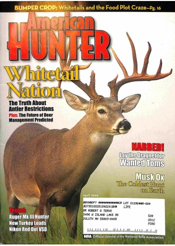 Cover Print of North American Hunter, April 2006