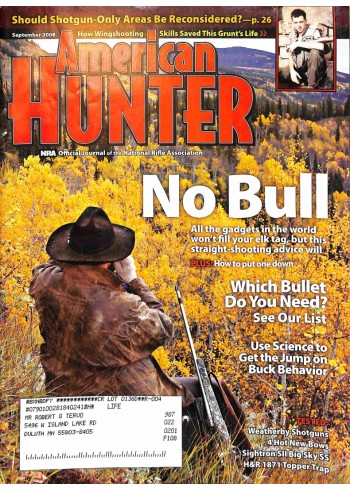Cover Print of North American Hunter, September 2008
