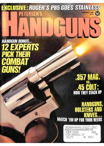 Petersens Handguns, February 1990