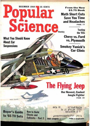 Cover Print of Popular Science, December 1964