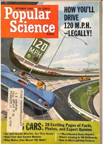 Cover Print of Popular Science, October 1965