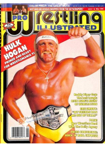 Cover Print of Pro Wrestling Illustrated, May 1990