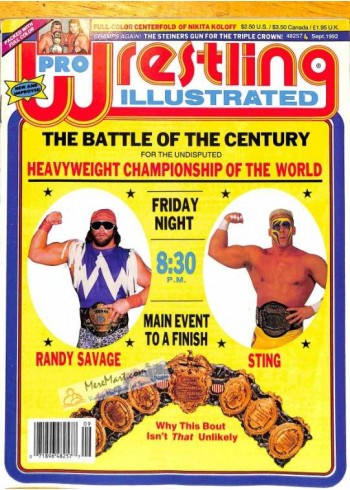 Cover Print of Pro Wrestling Illustrated, September 1992