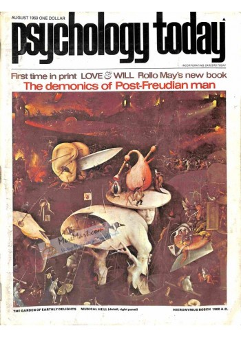 Cover Print of Psychology Today, August 1969