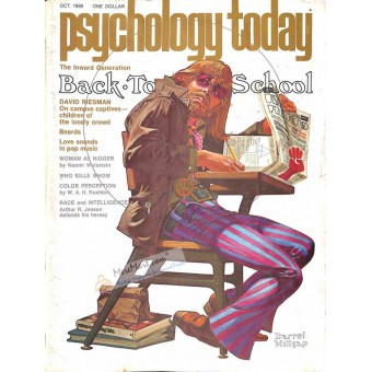 Cover Print of Psychology Today Magazine, October 1969