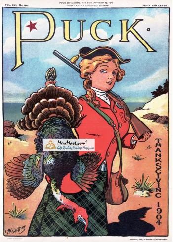 Puck, November 23, 1904. Poster Print. M.G.Lackens.