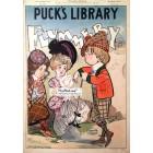 Pucks Library, April, 1902. Poster Print. Frank Nankivell.